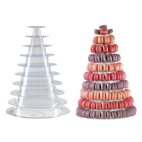 Pyramide à Macaron transparente
